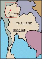 Map of Northern Thailand Chiang Mai in Action Tour and Travel Services