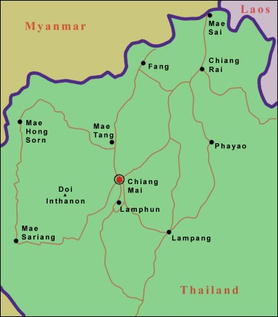 Lampang Thailand Map.Map Of Northern Thailand Chiang Mai In Action Tour And Travel Services